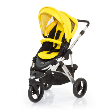 ABC Design Kinderwagen Cobra citro Gestell silver / black - gelb