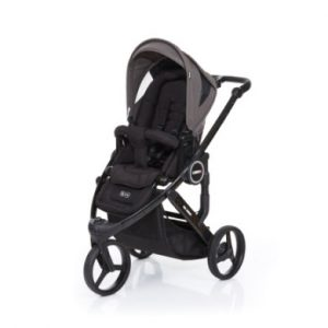 ABC Design Kinderwagen Cobra plus black-cloud, Gestell black / Sitz black - grau