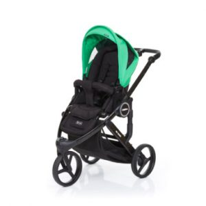 ABC Design Kinderwagen Cobra plus black-grass, Gestell black / Sitz black - grün