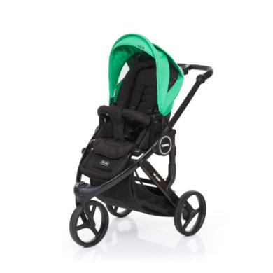 ABC Design Kinderwagen Cobra plus black-grass, Gestell black / Sitz black - grün