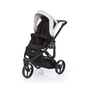 ABC Design Kinderwagen Cobra plus black-sheep, Gestell black / Sitz black - grau