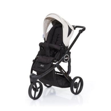 ABC Design Kinderwagen Cobra plus black-sheep, Gestell black / Sitz black - grau
