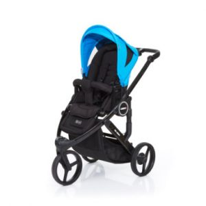 ABC Design Kinderwagen Cobra plus black-water, Gestell black / Sitz black - blau