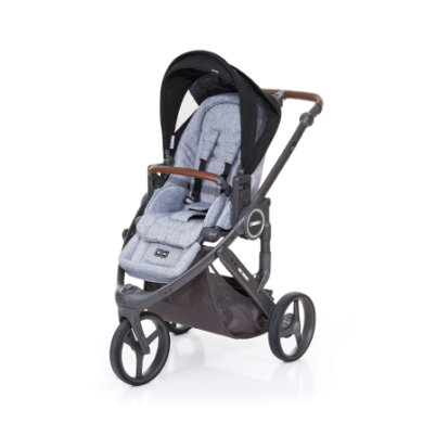 ABC Design Kinderwagen Cobra plus graphite grey-black, Gestell cloud / Sitz graphite grey - schwarz