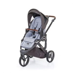 ABC Design Kinderwagen Cobra plus graphite grey-cloud, Gestell cloud / Sitz graphite grey - grau