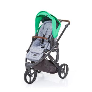 ABC Design Kinderwagen Cobra plus graphite grey-grass, Gestell cloud / Sitz graphite grey - grün