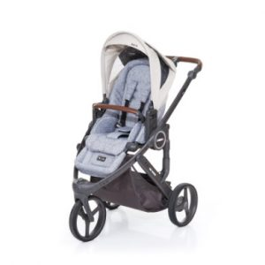 ABC Design Kinderwagen Cobra plus graphite grey-sheep, Gestell cloud / Sitz graphite grey - grau
