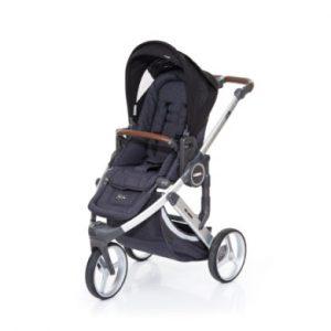 ABC Design Kinderwagen Cobra plus street-black, Gestell silver / Sitz street - schwarz