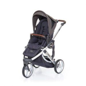 ABC Design Kinderwagen Cobra plus street-cloud, Gestell silver / Sitz street - grau
