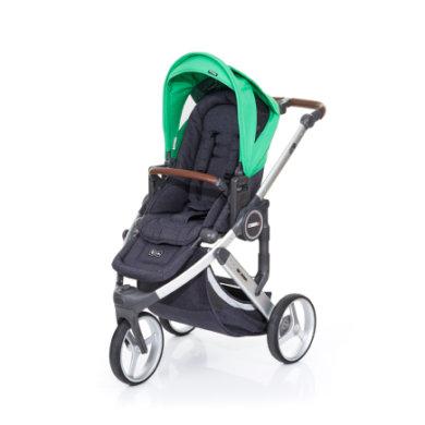 ABC Design Kinderwagen Cobra plus street-grass, Gestell silver / Sitz street - grün