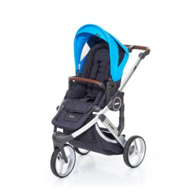 ABC Design Kinderwagen Cobra plus street-water, Gestell silver / Sitz street - blau