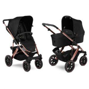 ABC Design Kinderwagen Salsa 4 Air Diamond Special Edition Rose-Gold - schwarz
