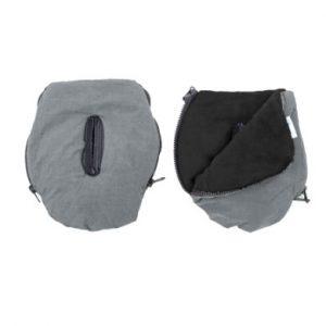 Altabebe Handwärmer Alpin für Kinderwagen hellgrau-schwarz