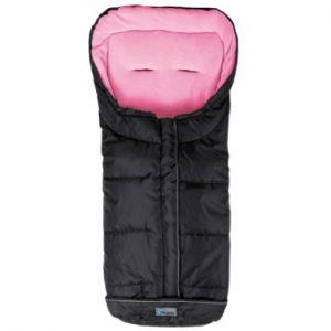 Altabebe Winterfußsack Active XL mit ABS für Kinderwagen Schwarz-Rosa - schwarz