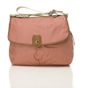 Babymel Wickeltasche Satchel Red Stripe - rot