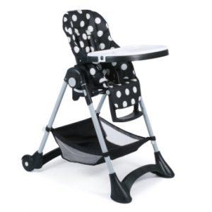 CHIC 4 BABY Hochstuhl JOKO Dots black - schwarz