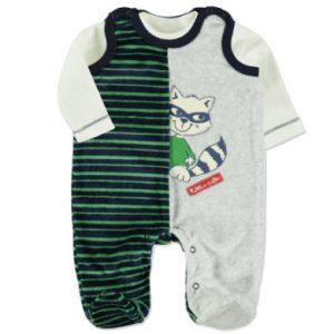 DIMO Boys Nicki Strampler Set 2-teilig green - bunt - Gr.Newborn (0 - 6 Monate) - Jungen