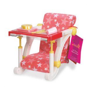 Our Generation - Hochstuhl in pink für Tisch - rosa/pink
