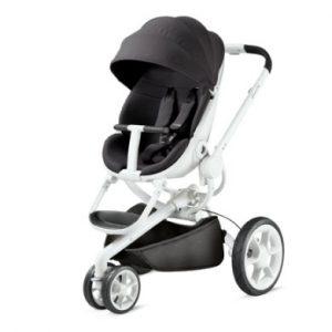 Quinny Kinderwagen Moodd Black Irony - weißes Gestell - grau