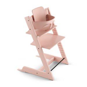 STOKKE ® Tripp Trapp® Hochstuhl Buche Serene Pink inkl. Baby Set Serene Pink - rosa/pink