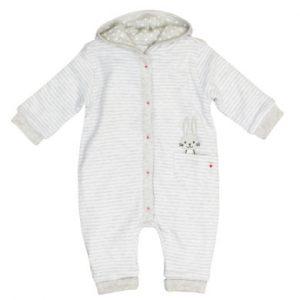 Salt and Pepper Strampler zum Wenden Schatz light grey melange - grau - Gr.Newborn (0 - 6 Monate) - Unisex