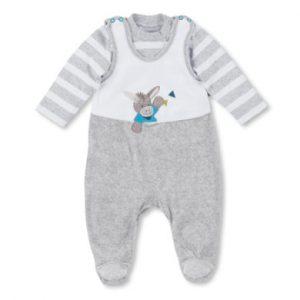 Sterntaler Strampler-Set Nicki Erik weiß - grau - Gr.Newborn (0 - 6 Monate) - Unisex