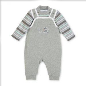 Sterntaler Strampler-Set Waldis Jersey grau melange - Gr.Babymode (6 - 24 Monate) - Unisex