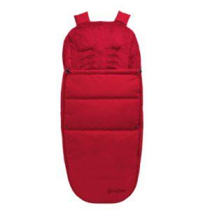 cybex GOLD Fußsack für Kinderwagen und Buggys Red-red - rot