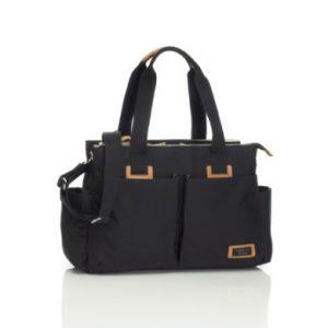 storksak Wickeltasche Shoulder Bag Black - schwarz