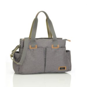 storksak Wickeltasche Shoulder Bag Grey - grau