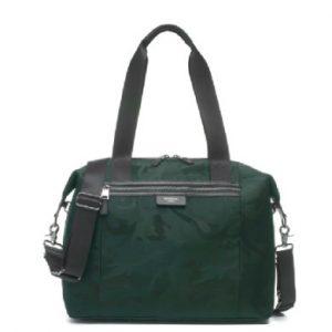 storksak Wickeltasche Stevie Luxe Black Emerald - grün