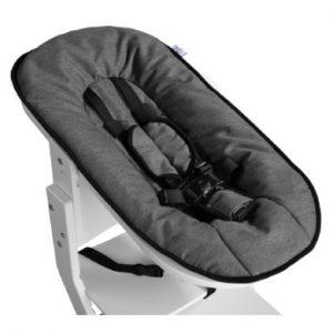 tiSsi ® Babyaufsatz für Hochstuhl weiß - Anthrazit - grau