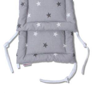 HOBEA Nestchen für Babybetten Sternenmuster grau