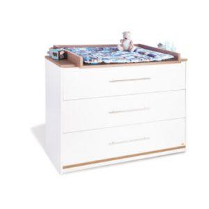 Pinolino Wickelkommode Tuula breit - weiß