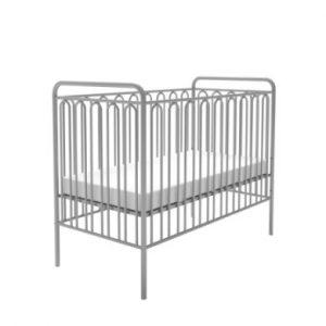 Polini Kids Babybett Vintage 150 silber - grau - Gr.60x120 cm