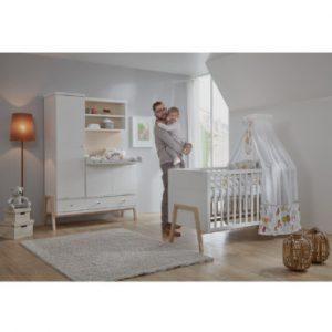 Schardt Kinderzimmer Holly Nature Schrank mit Wickelkommode - weiß - Gr.70x140 cm