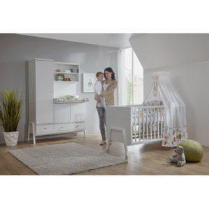 Schardt Kinderzimmer Holly White Schrank mit Wickelkommode - weiß - Gr.70x140 cm