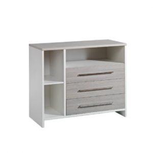 Schardt Wickelkommode Eco Silber - weiß