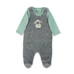 Sterntaler Boys Strampler-Set Nicki Stanley grau - Gr.Newborn (0 - 6 Monate) - Jungen