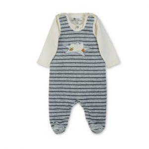 Sterntaler Strampler-Set Nicki Edda silber - grau - Gr.Newborn (0 - 6 Monate) - Unisex