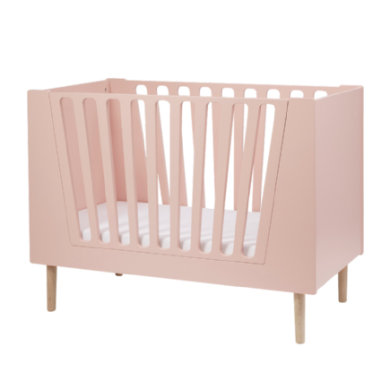 Done by Deer™ Babybett 60 x 120 cm Puder - rosa/pink