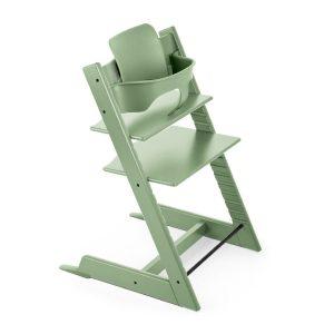 STOKKE ® Tripp Trapp® Hochstuhl Buche Moss Green inkl. Baby Set Moss Green - grün