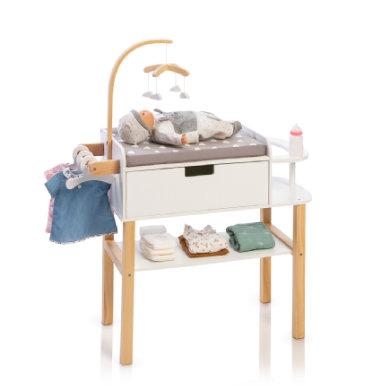 MUSTERKIND® Puppen-Wickelkommode Barlia, natur/weiß