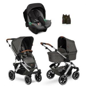 ABC DESIGN Kinderwagen 3 in 1 Salsa 4 Air Diamond Special Edition Asphalt