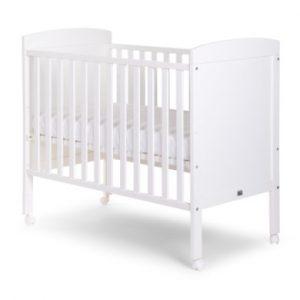 CHILDHOME Babybett weiß 60 x 120 cm + Räder