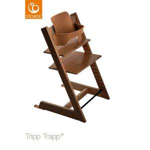 STOKKE® Tripp Trapp® Hochstuhl inkl. Baby Set Buche walnussbraun