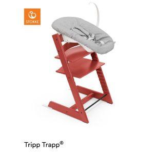 STOKKE® Tripp Trapp® Hochstuhl Warm Red inkl. Newborn Set™ Grey