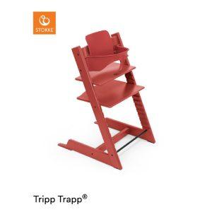 STOKKE® Tripp Trapp® Hochstuhl inkl. Baby Set Buche Warm Red