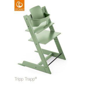 STOKKE® Tripp Trapp® Hochstuhl inkl. Baby Set Buche Moss Green